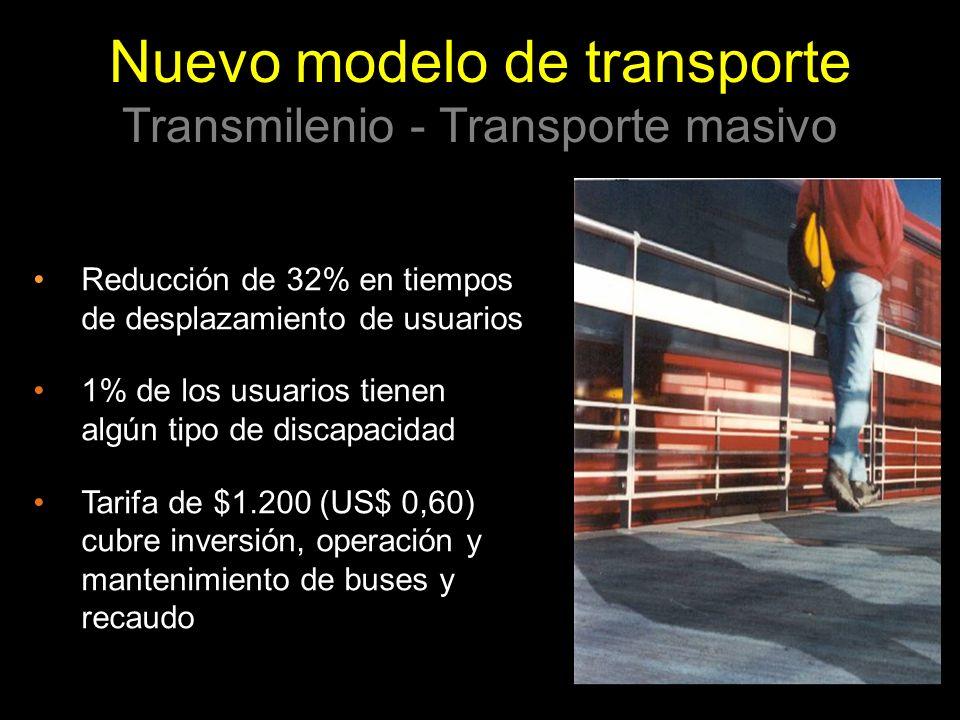 Nuevo modelo de transporte Transmilenio - Transporte masivo