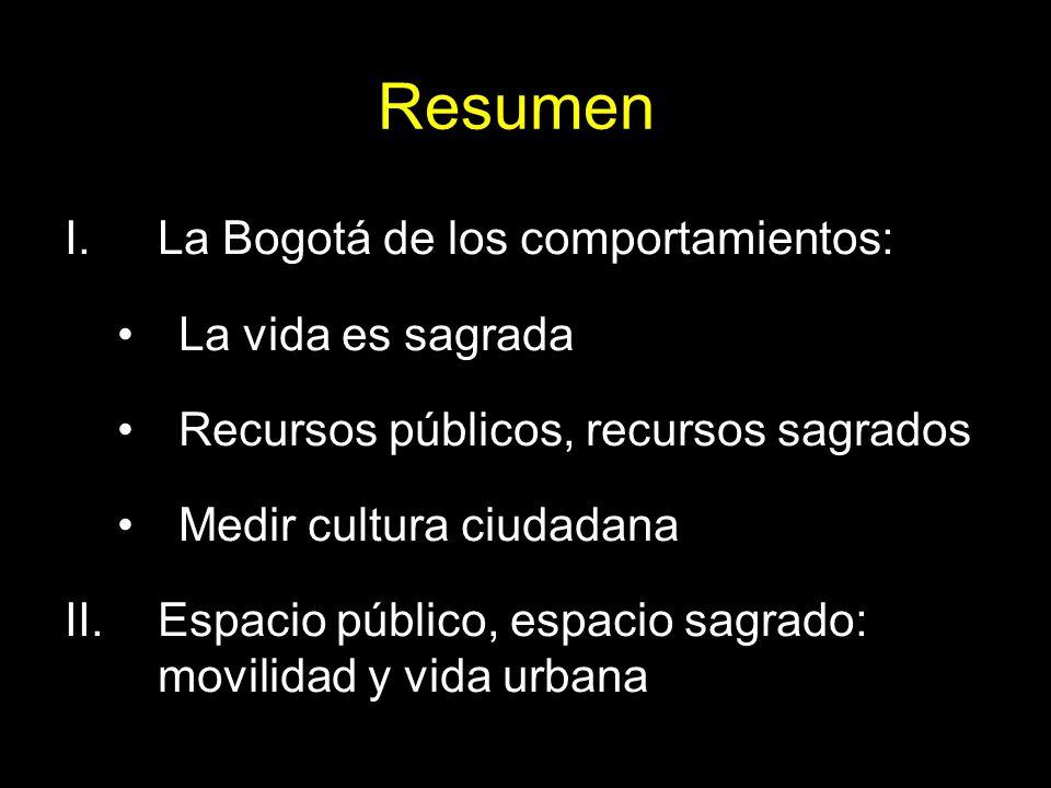 Resumen La Bogotá de los comportamientos: La vida es sagrada