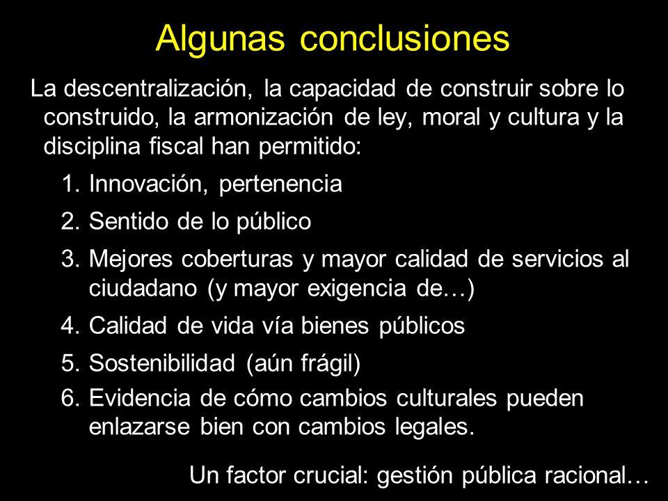 Algunas conclusiones