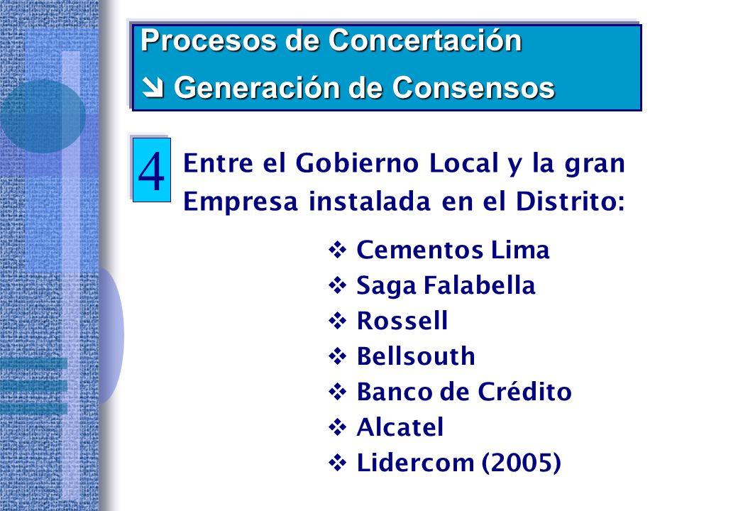 4 Procesos de Concertación  Generación de Consensos