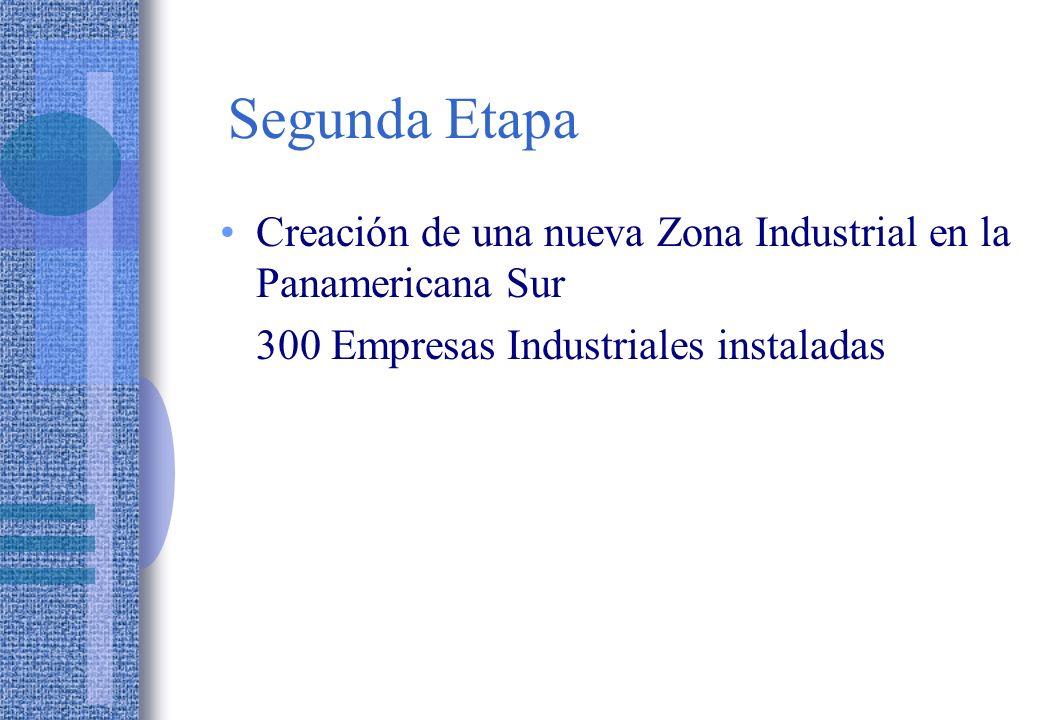 Segunda Etapa Creación de una nueva Zona Industrial en la Panamericana Sur.
