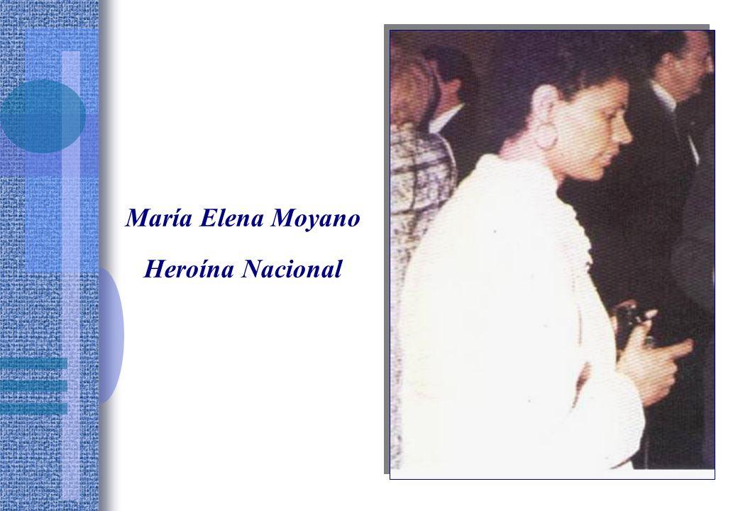 María Elena Moyano Heroína Nacional
