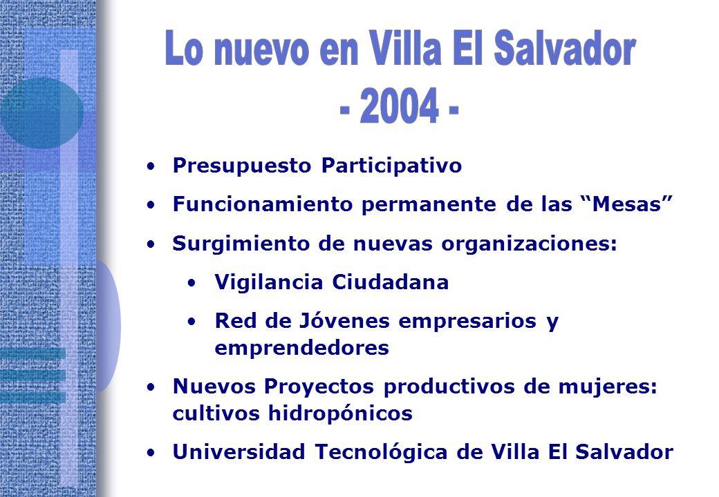 Lo nuevo en Villa El Salvador