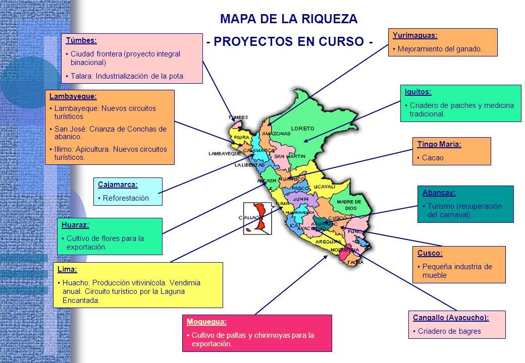 MAPA DE LA RIQUEZA - PROYECTOS EN CURSO -