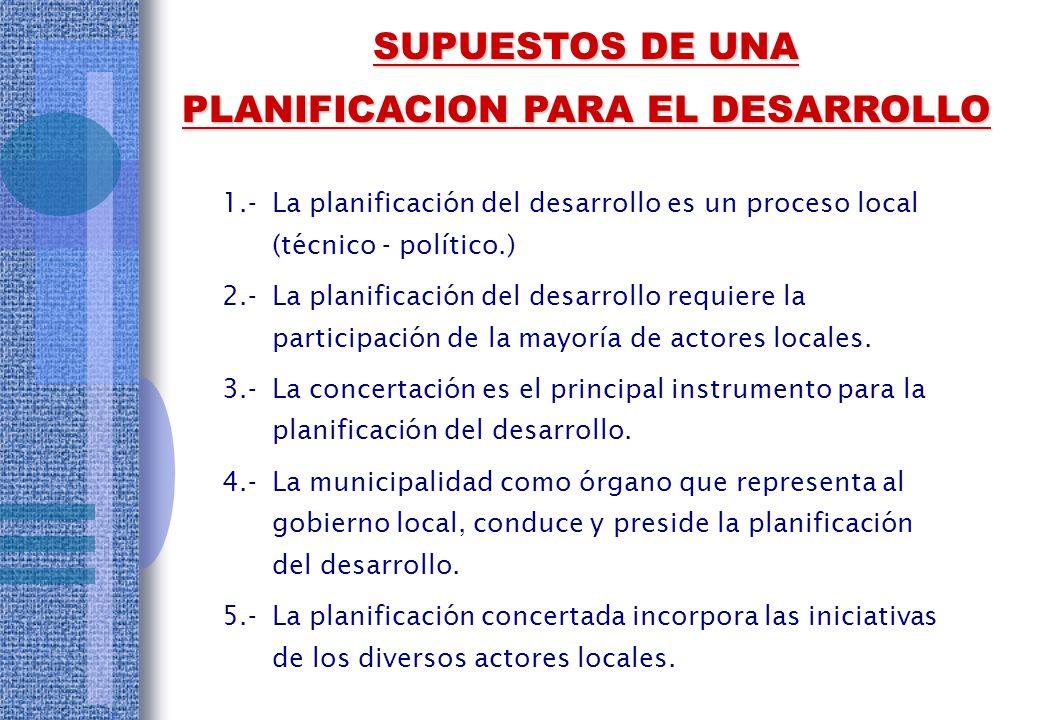 PLANIFICACION PARA EL DESARROLLO