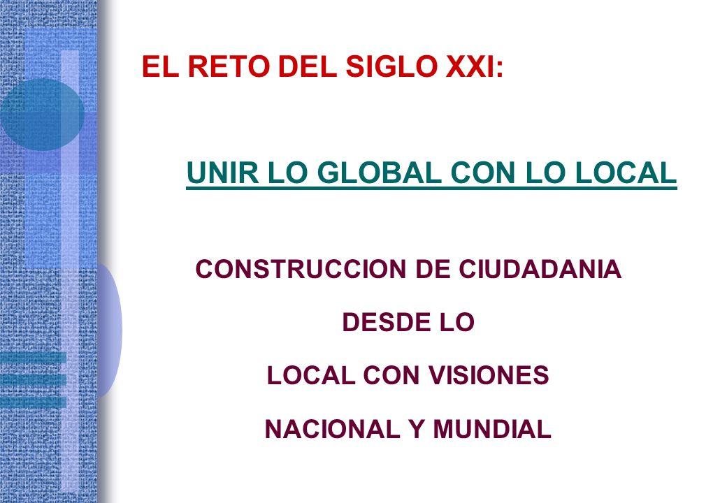 UNIR LO GLOBAL CON LO LOCAL CONSTRUCCION DE CIUDADANIA