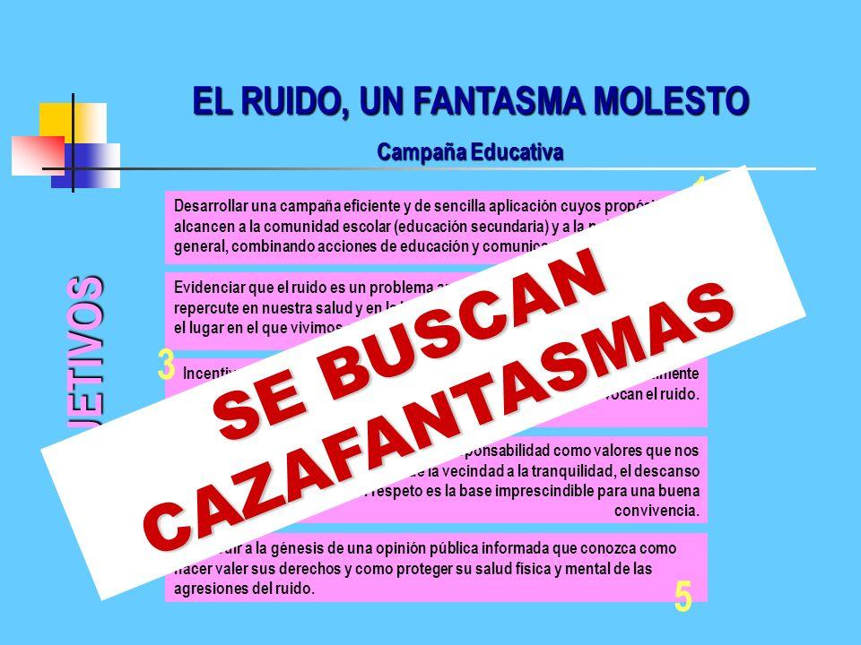 EL RUIDO, UN FANTASMA MOLESTO SE BUSCAN CAZAFANTASMAS