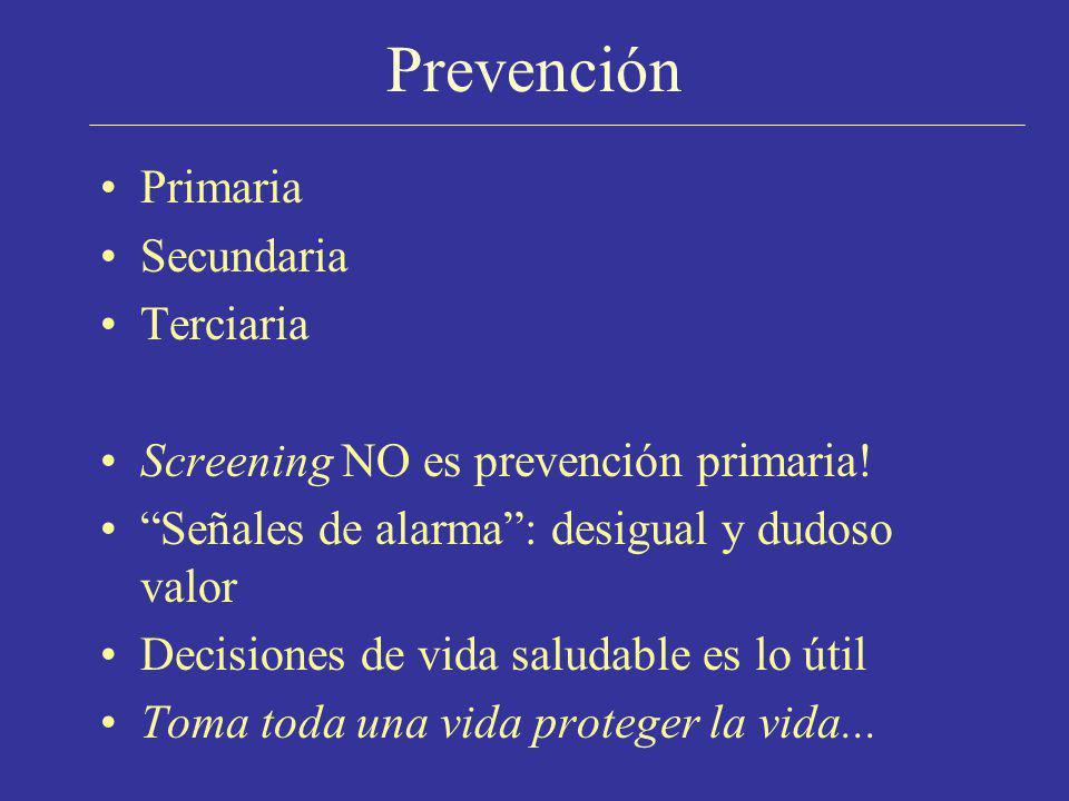 Prevención Primaria Secundaria Terciaria