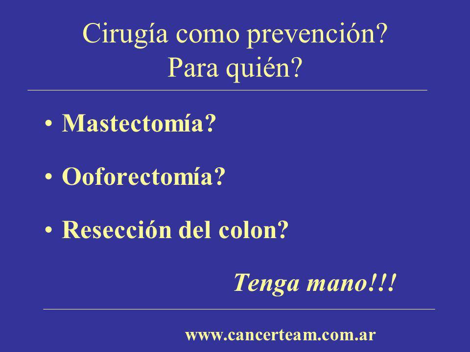 Cirugía como prevención Para quién