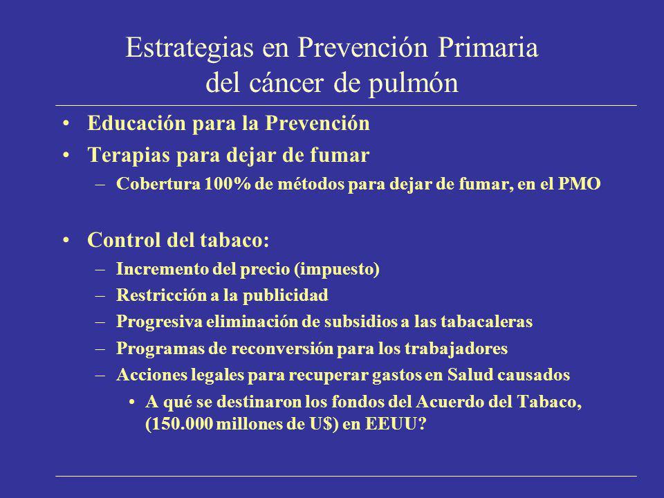 Estrategias en Prevención Primaria del cáncer de pulmón