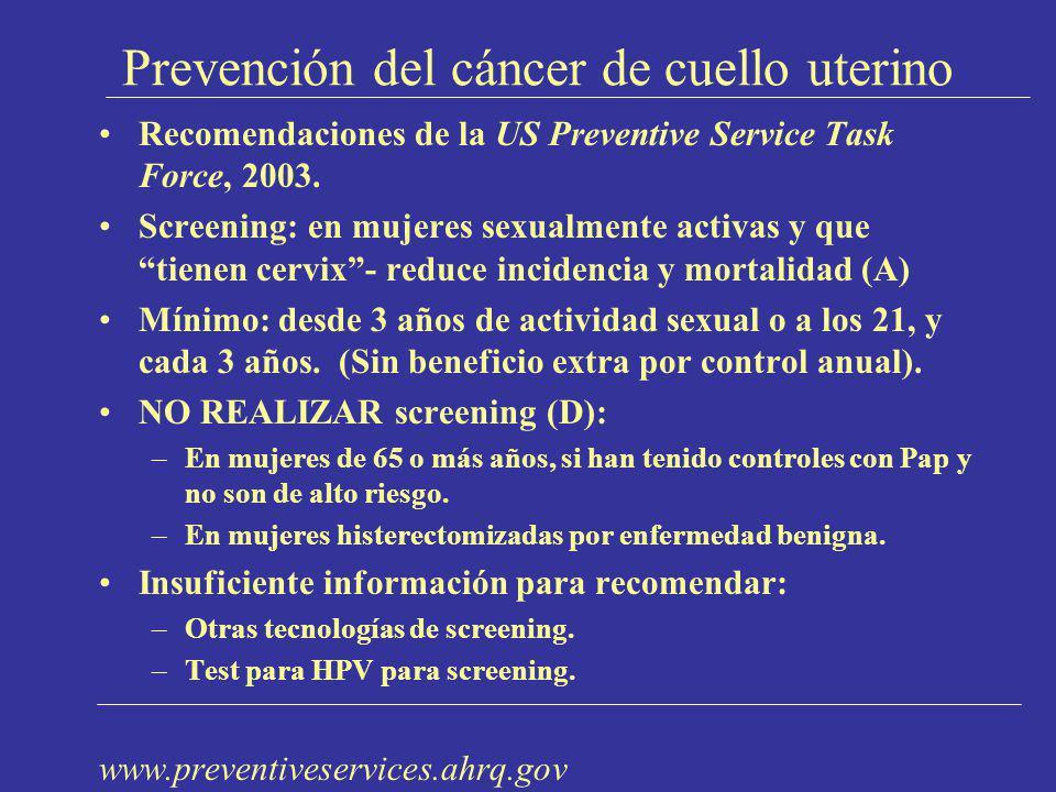 Prevención del cáncer de cuello uterino