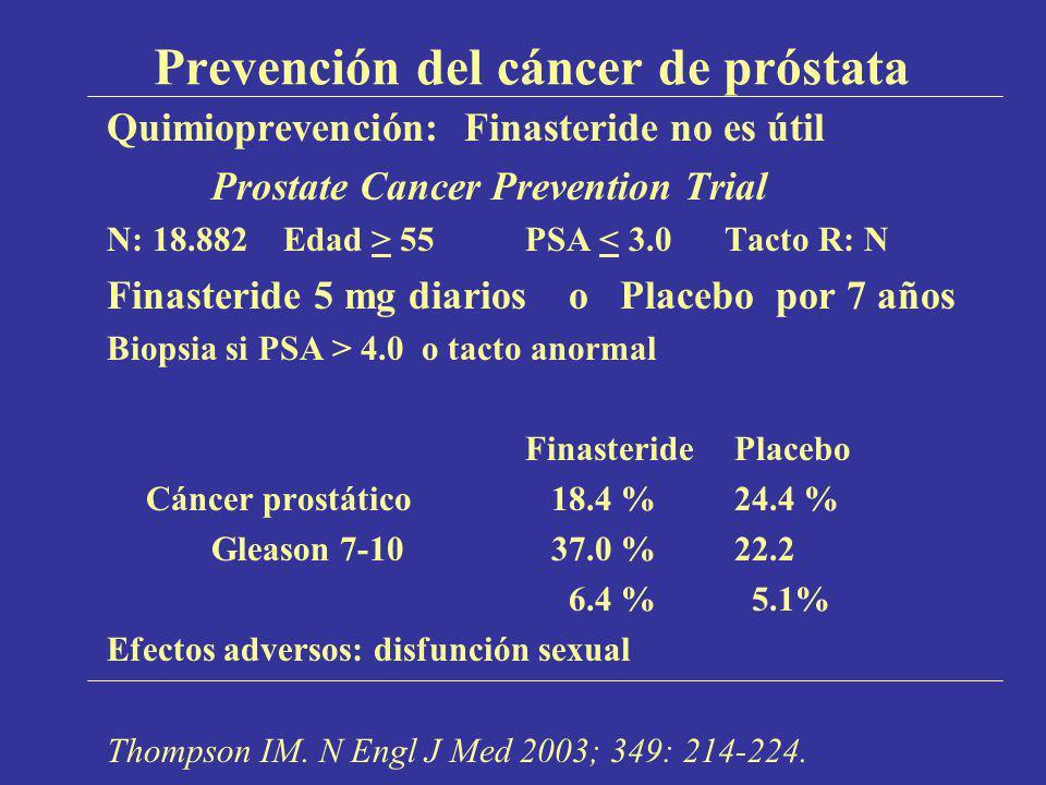Prevención del cáncer de próstata