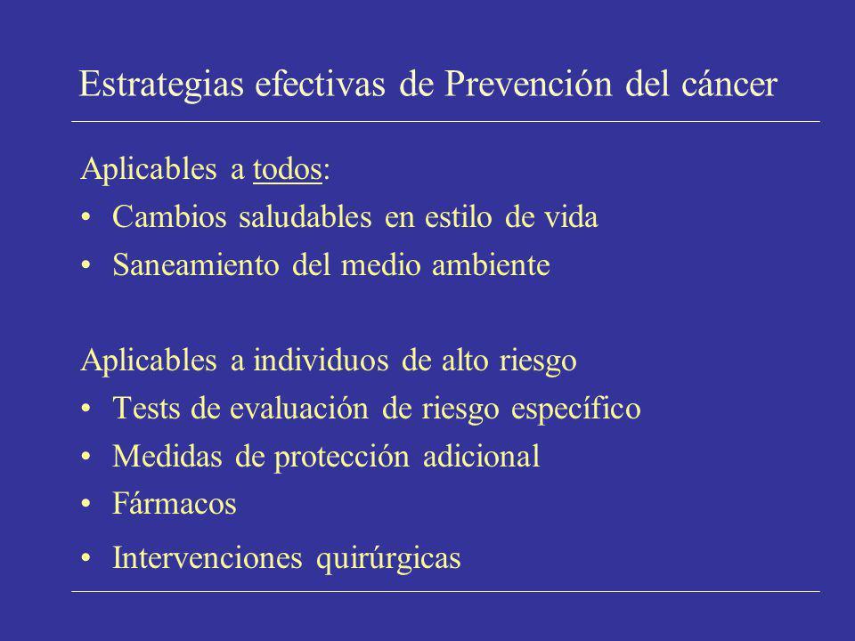 Estrategias efectivas de Prevención del cáncer