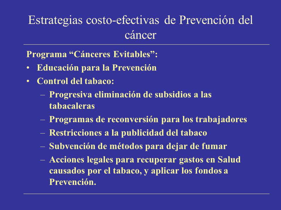 Estrategias costo-efectivas de Prevención del cáncer