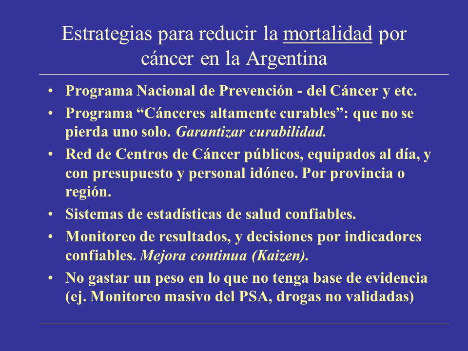 Estrategias para reducir la mortalidad por cáncer en la Argentina