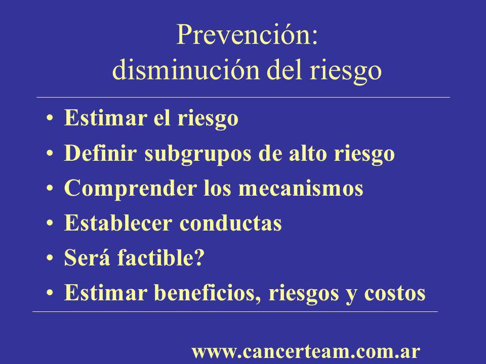 Prevención: disminución del riesgo