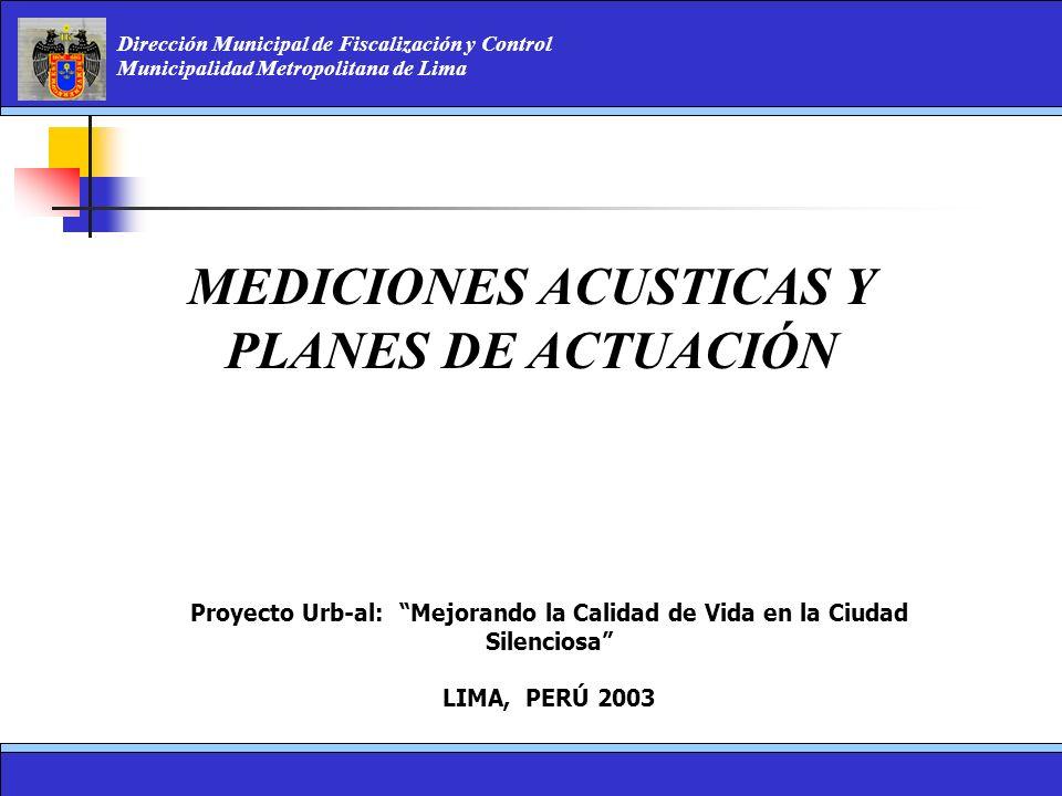 MEDICIONES ACUSTICAS Y PLANES DE ACTUACIÓN