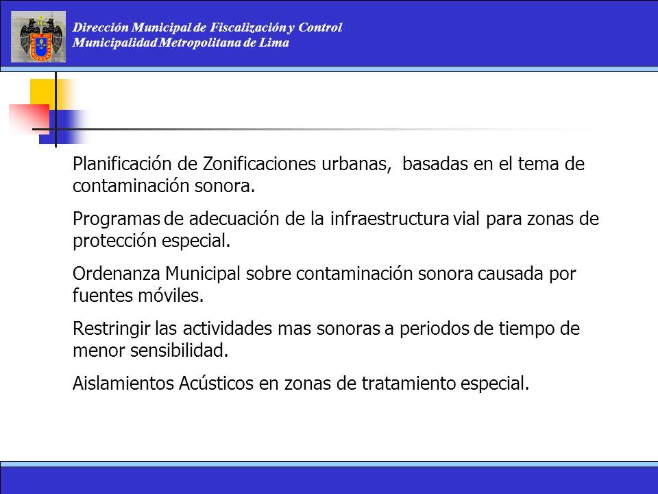 Planificación de Zonificaciones urbanas, basadas en el tema de contaminación sonora.