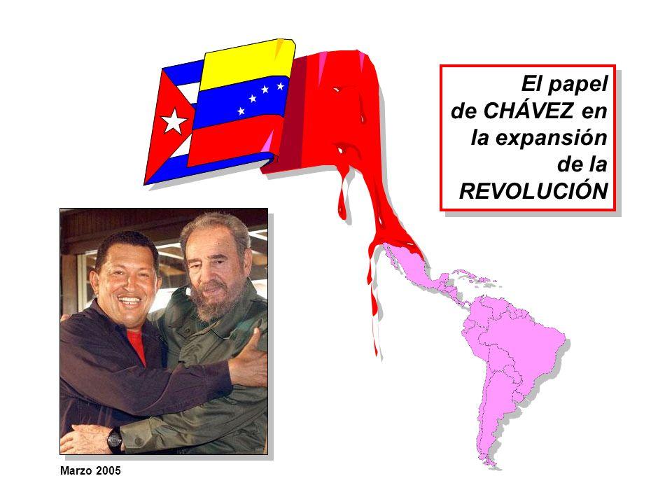El papel de CHÁVEZ en la expansión de la REVOLUCIÓN Marzo 2005