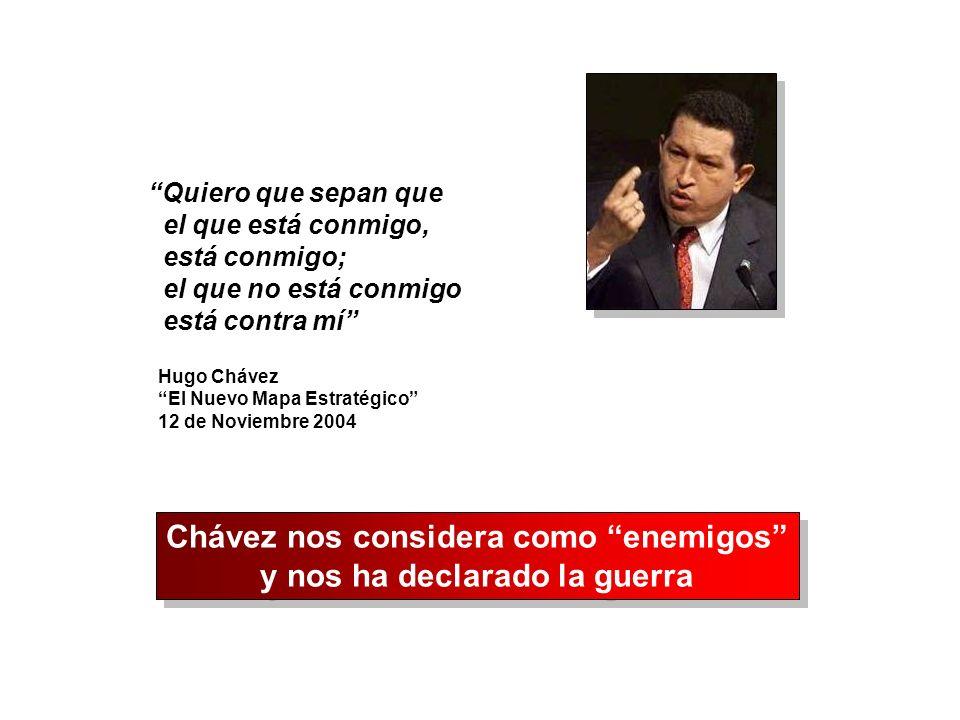 Chávez nos considera como enemigos y nos ha declarado la guerra
