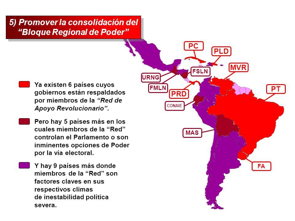 5) Promover la consolidación del Bloque Regional de Poder
