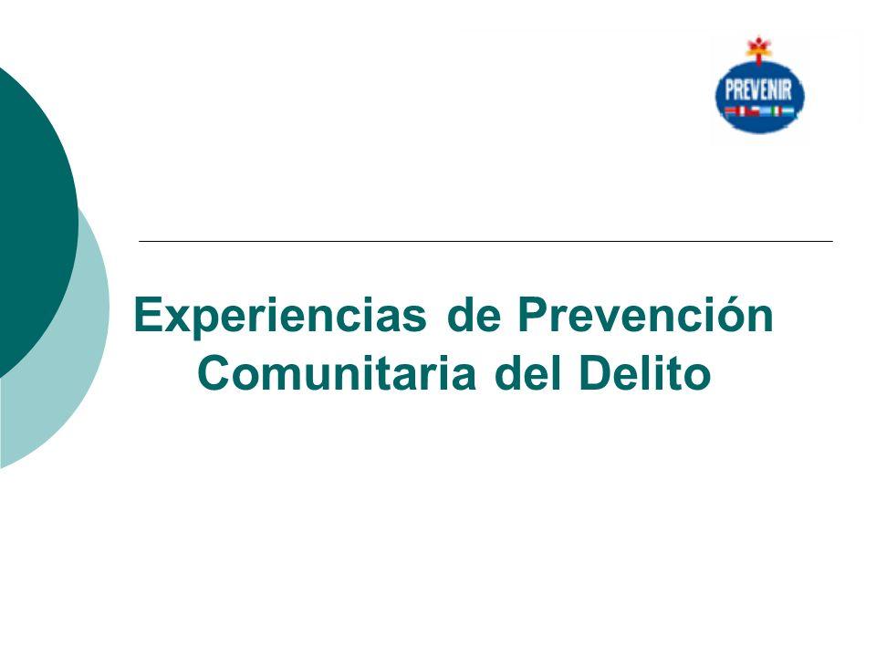 Experiencias de Prevención Comunitaria del Delito