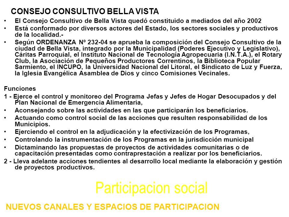 Participacion social NUEVOS CANALES Y ESPACIOS DE PARTICIPACION
