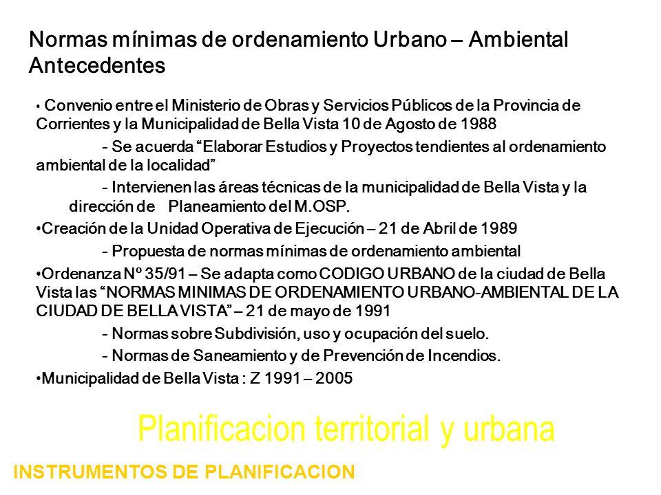 Planificacion territorial y urbana