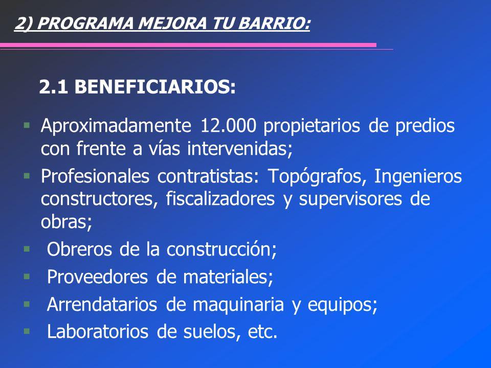 Obreros de la construcción; Proveedores de materiales;