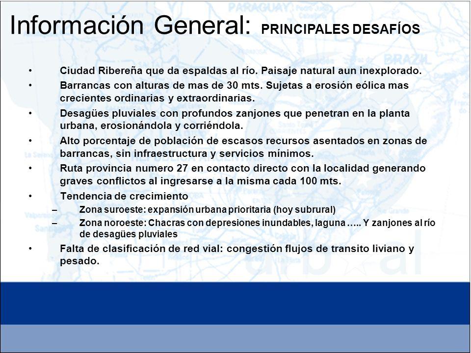 Información General: PRINCIPALES DESAFÍOS