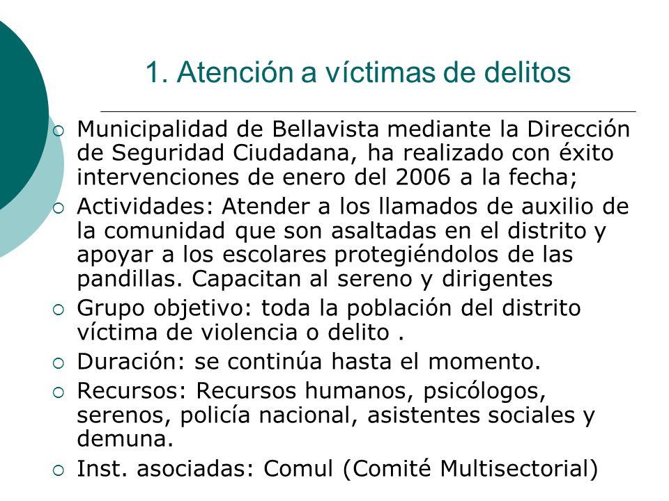 1. Atención a víctimas de delitos