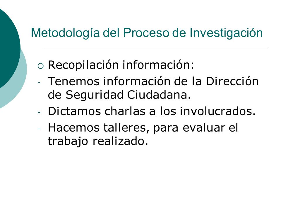 Metodología del Proceso de Investigación
