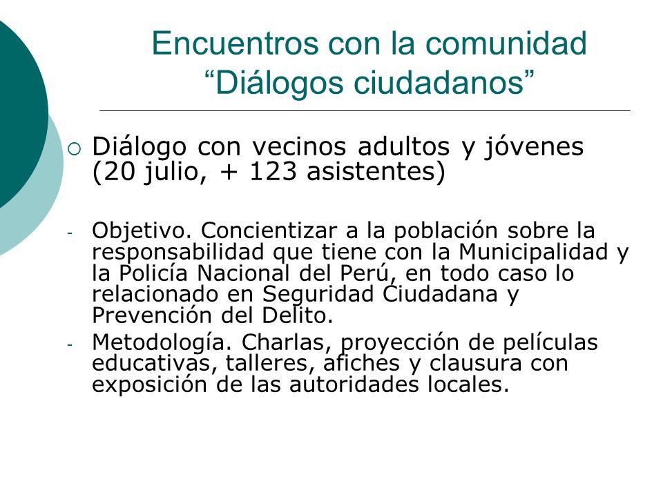 Encuentros con la comunidad Diálogos ciudadanos