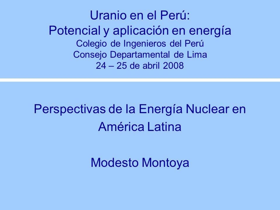 Perspectivas de la Energía Nuclear en