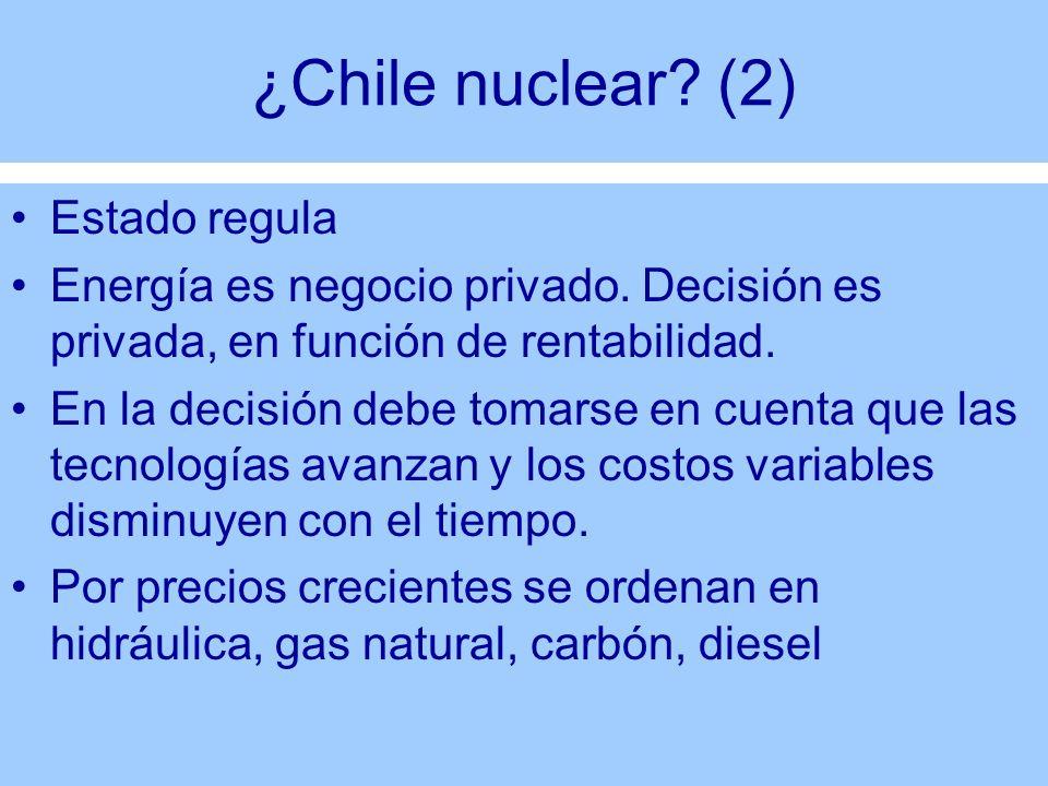 ¿Chile nuclear (2) Estado regula