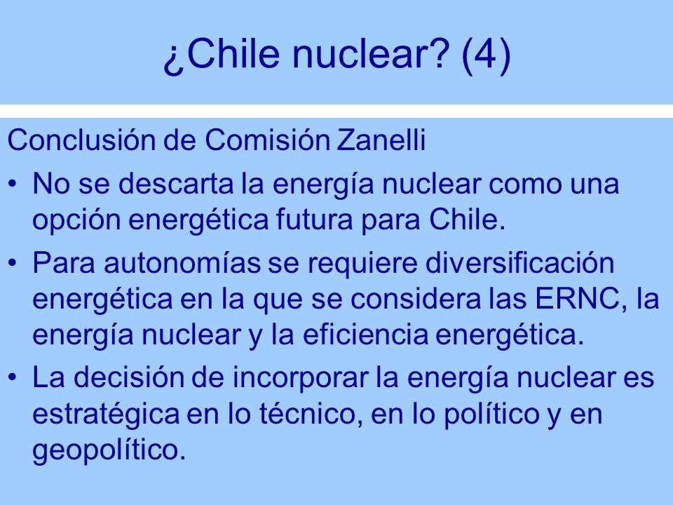 ¿Chile nuclear (4) Conclusión de Comisión Zanelli