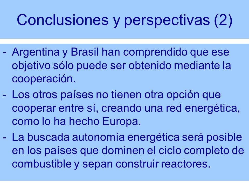Conclusiones y perspectivas (2)