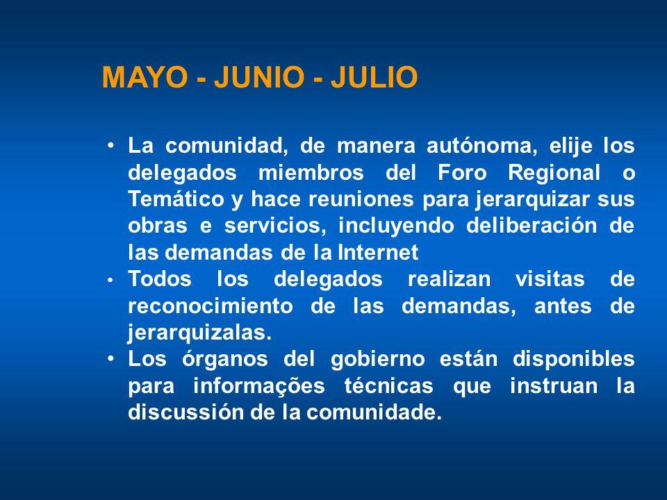 MAYO - JUNIO - JULIO