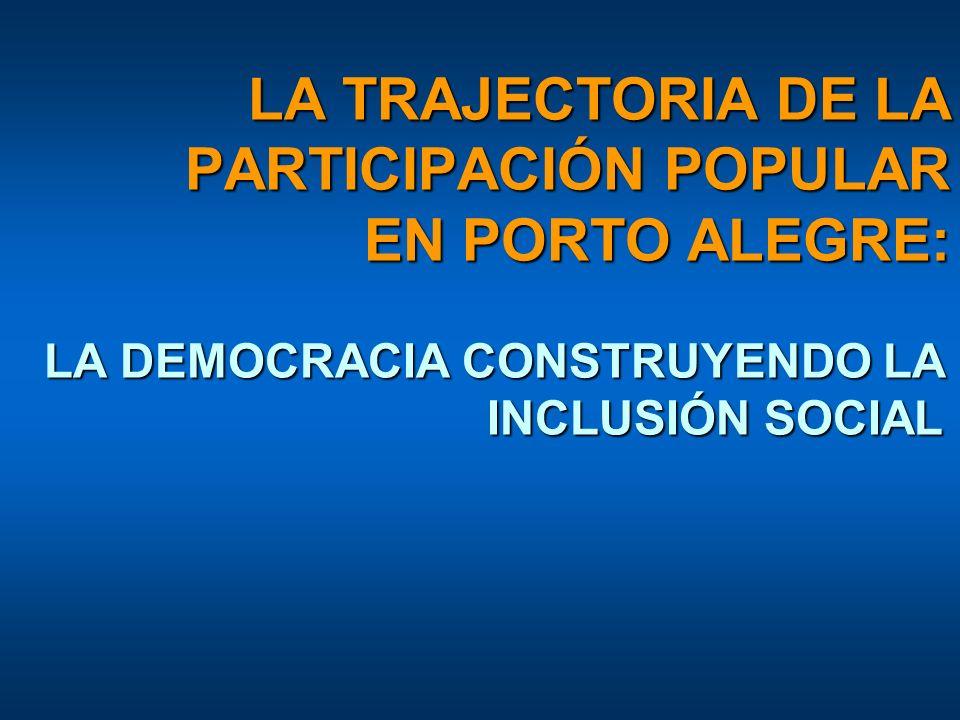 LA TRAJECTORIA DE LA PARTICIPACIÓN POPULAR EN PORTO ALEGRE: