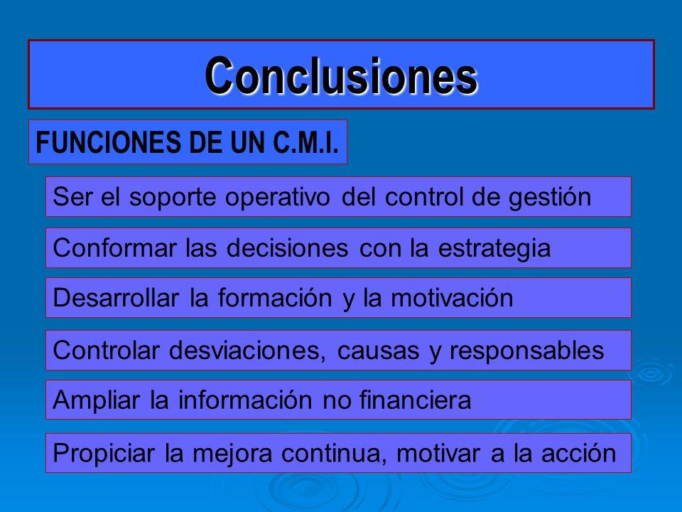 Conclusiones FUNCIONES DE UN C.M.I.