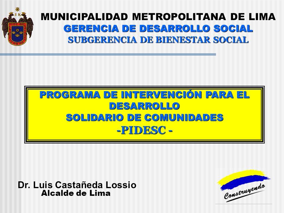 -PIDESC - MUNICIPALIDAD METROPOLITANA DE LIMA