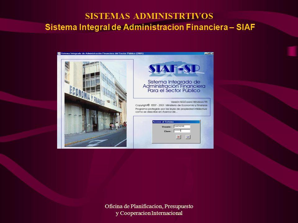Oficina de Planificacion, Presupuesto y Cooperacion Internacional