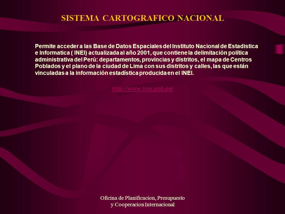 SISTEMA CARTOGRAFICO NACIONAL