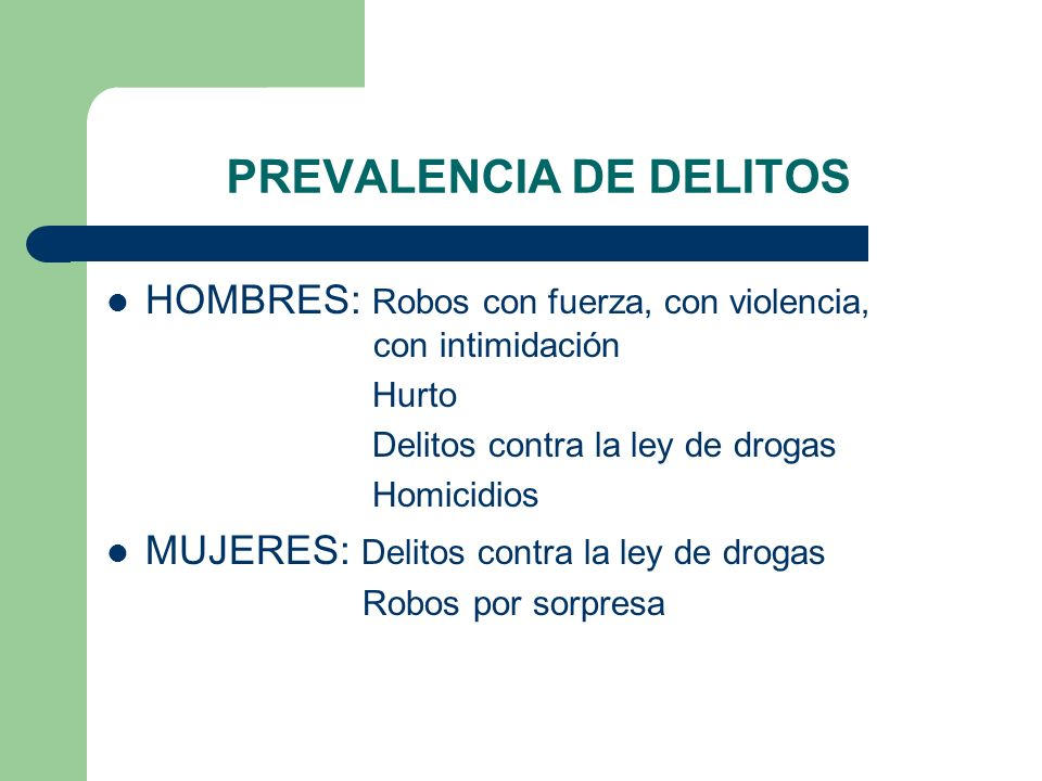 PREVALENCIA DE DELITOS