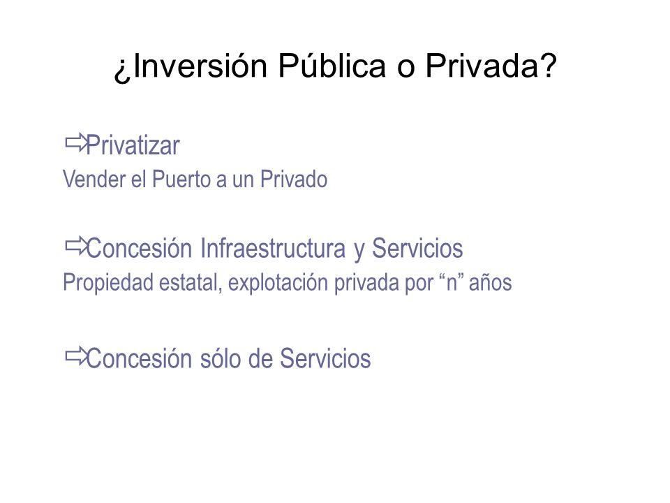 ¿Inversión Pública o Privada