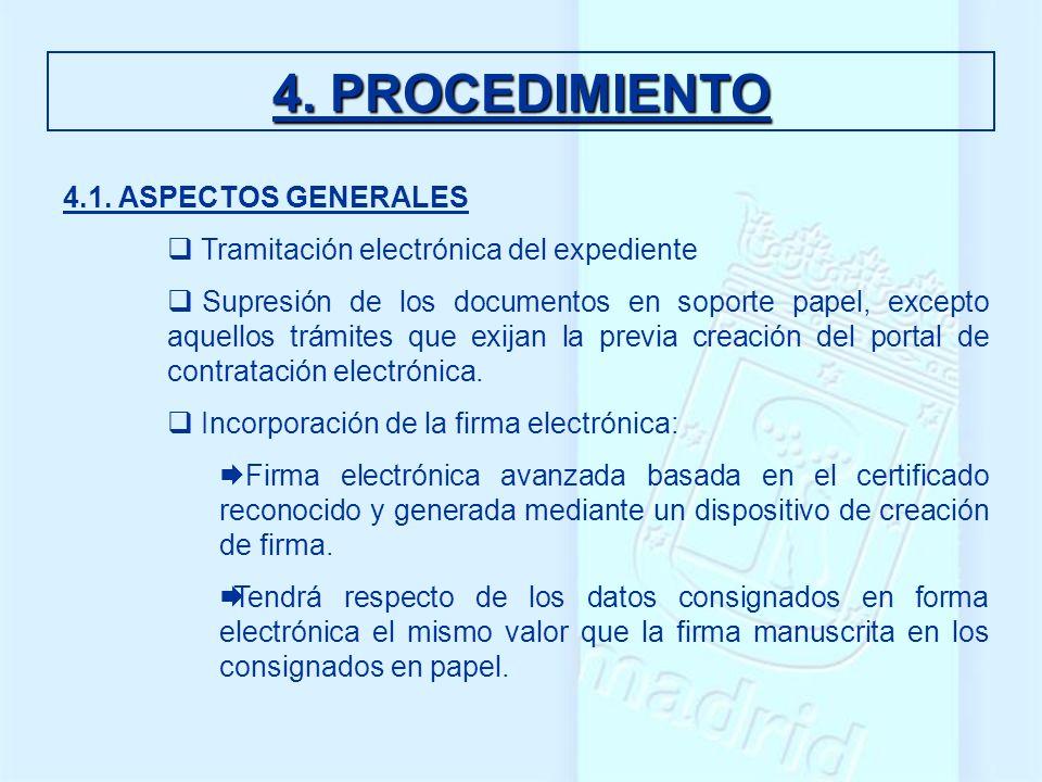 4. PROCEDIMIENTO 4.1. ASPECTOS GENERALES
