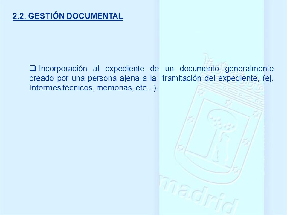 2.2. GESTIÓN DOCUMENTAL