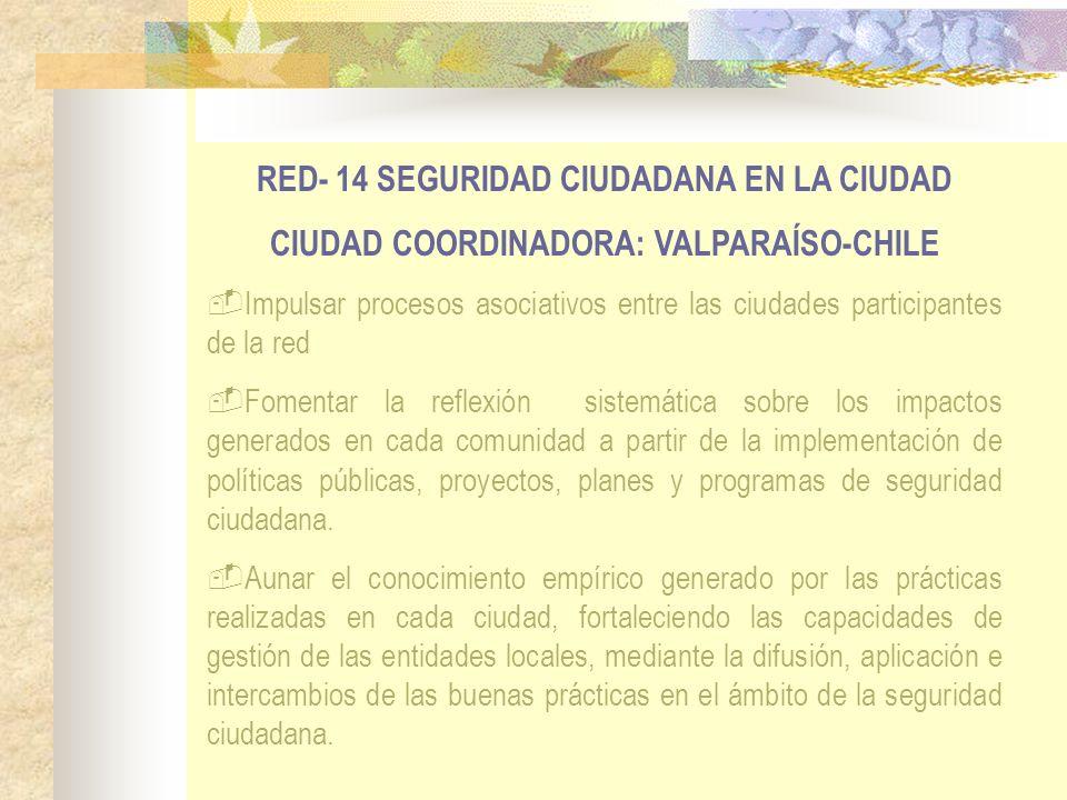 RED- 14 SEGURIDAD CIUDADANA EN LA CIUDAD