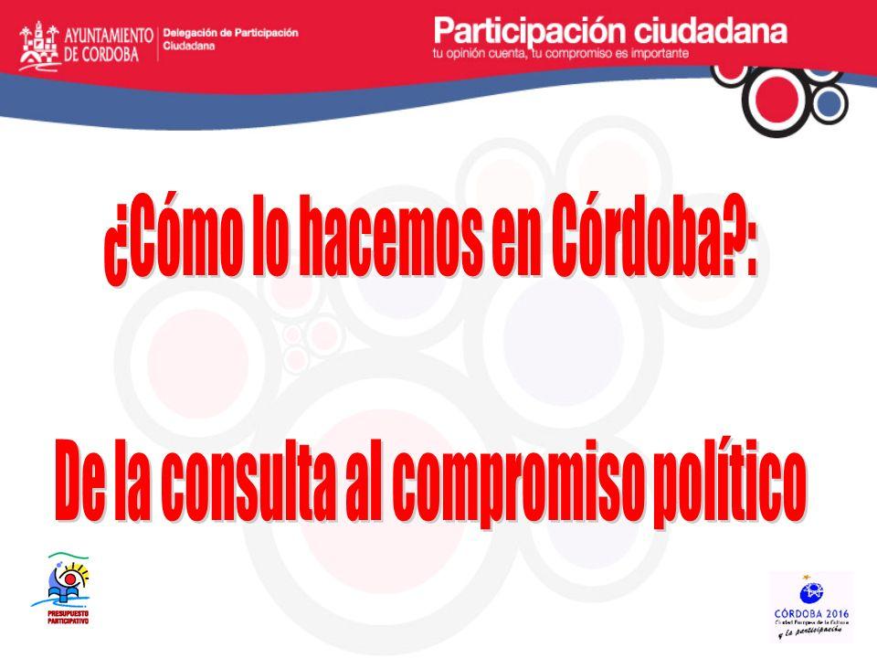 ¿Cómo lo hacemos en Córdoba : De la consulta al compromiso político