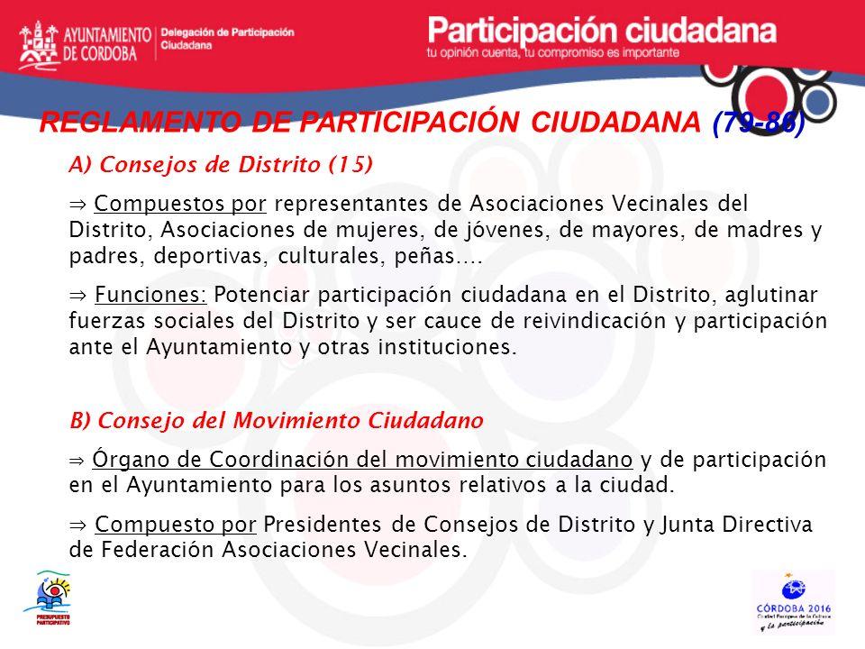 REGLAMENTO DE PARTICIPACIÓN CIUDADANA (79-86)